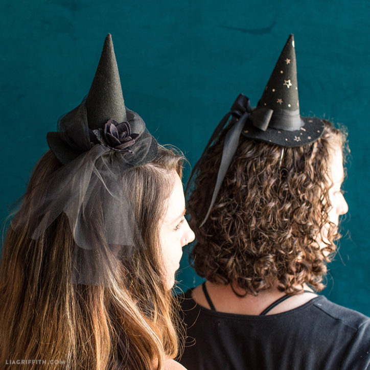 DIY witch hats for Halloween