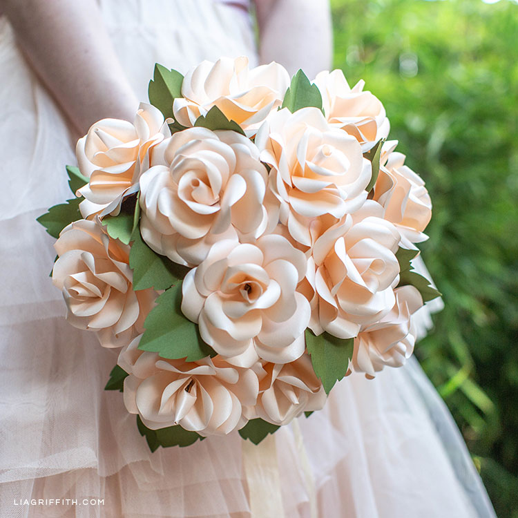 Video Tutorial Frosted Paper Rose Bridal Bouquet Lia Griffith