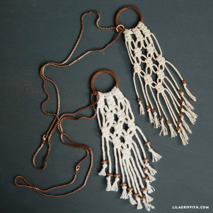 DIY macrame necklaces