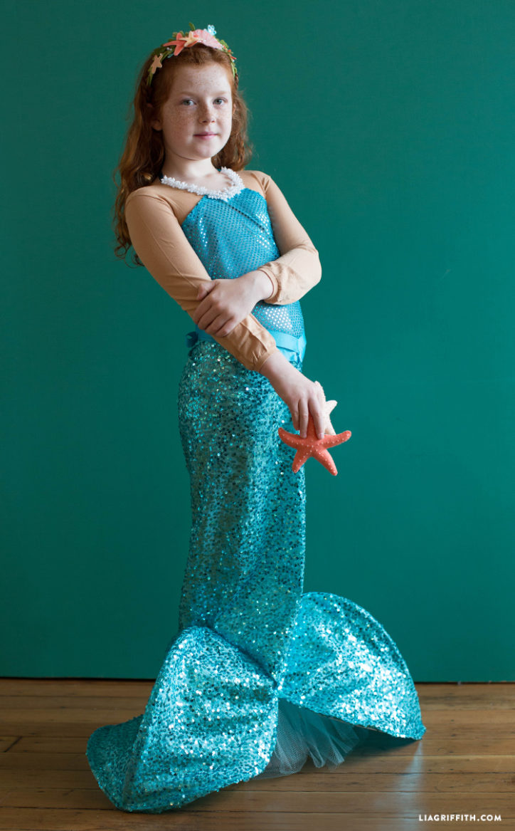 Kid's DIY mermaid costume
