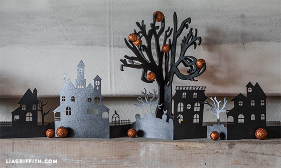 Paper haunted village for Halloween