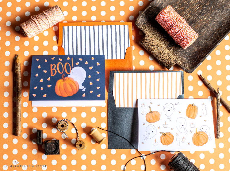 graphic about Printable Halloween Cards referred to as Take pleasure in This kind of Totally free Printable Halloween Playing cards - Lia Griffith