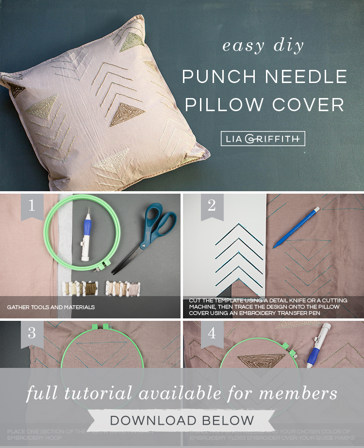 picture regarding Free Printable Punch Needle Patterns identify How towards Crank out a Punch Needle Pillow Go over - Lia Griffith