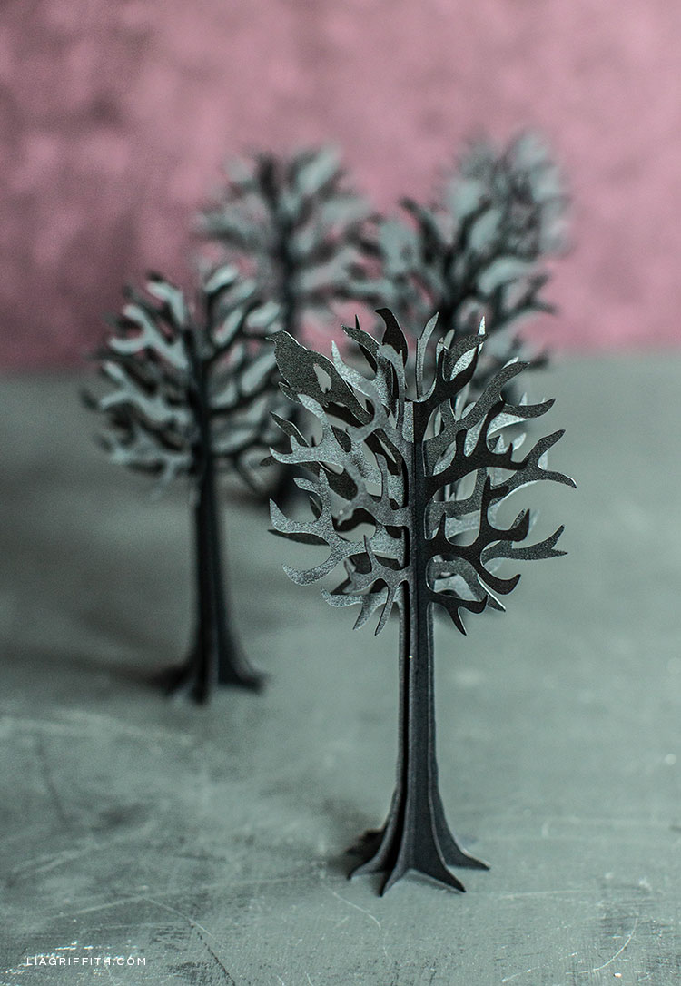 3D paper tree halloween decorations