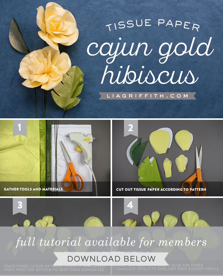 Learn How To Make A Pretty Tissue Paper Cajun Hibiscus Flower