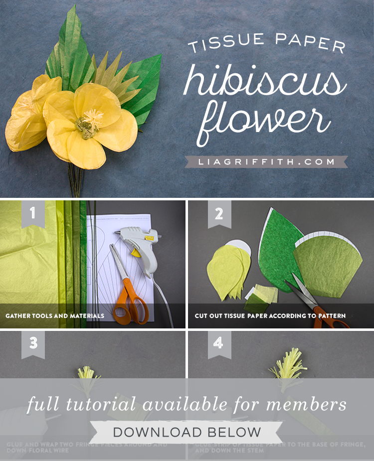Easily Make Some Diy Tissue Paper Tropical Hibiscus Flowers