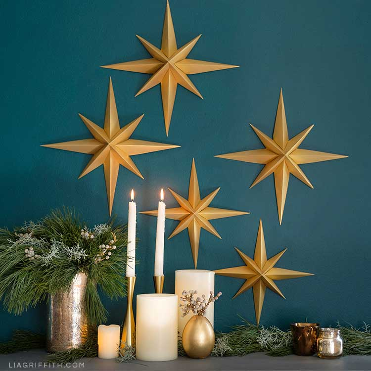 3d Paper Stars For Your Diy Wall Decor Lia Griffiith
