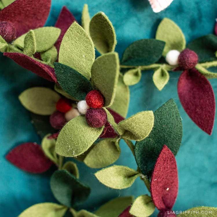 felt greenery garland