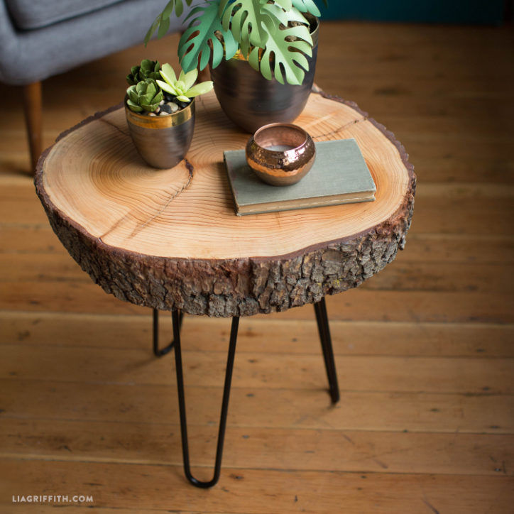 DIY wood top table