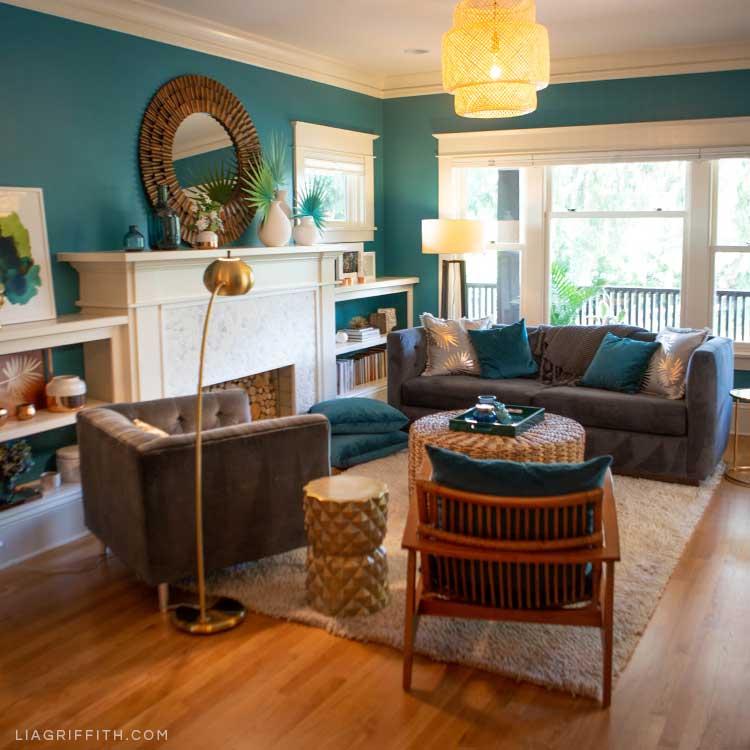 Tropical Living Room Inspiration & DIY Décor Ideas - Lia Griffith