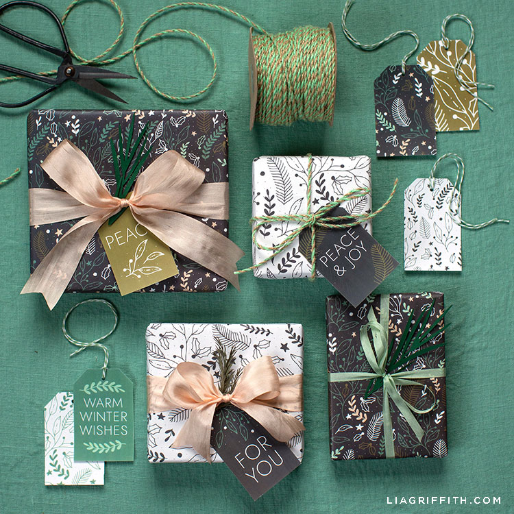 Simple Winter Gift Wrap And Gift Tags Lia Griffith