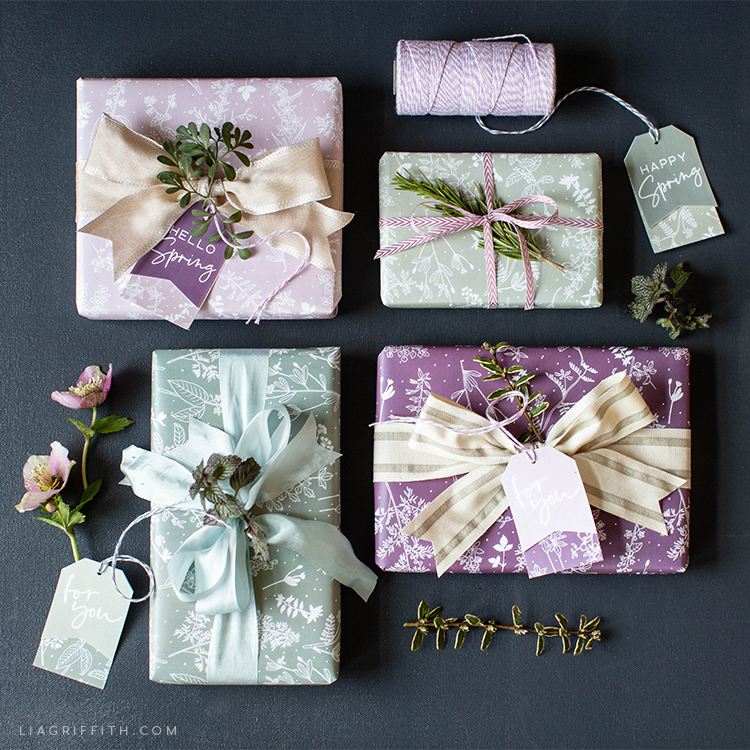 63f16ef6cf3 Printable Spring Herb Gift Wrap   Tags - Lia Griffith