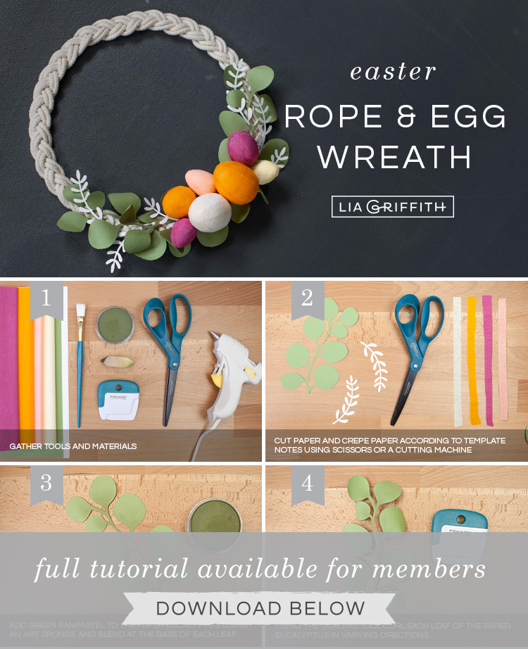 DIY photo tutorial for Easter wreath by Lia Griffith