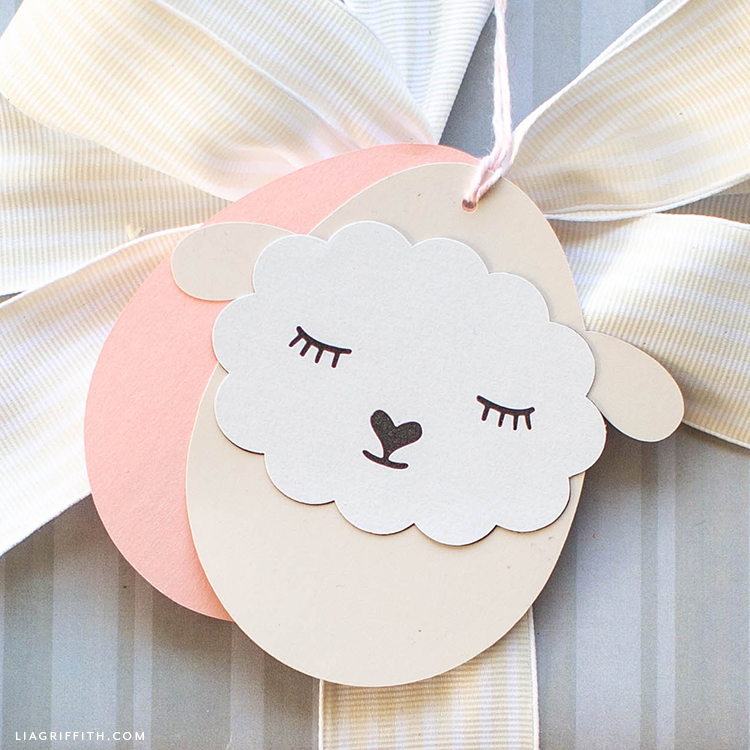 Sheep gift tag