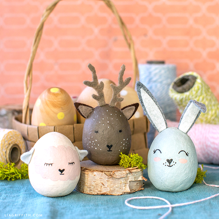 Painted Animal Easter Eggs Diy Tutorial Lia Griffith