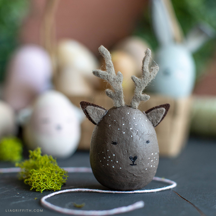 painted deer Easter egg