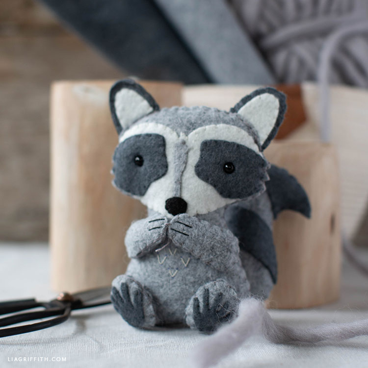felt raccoon stuffie