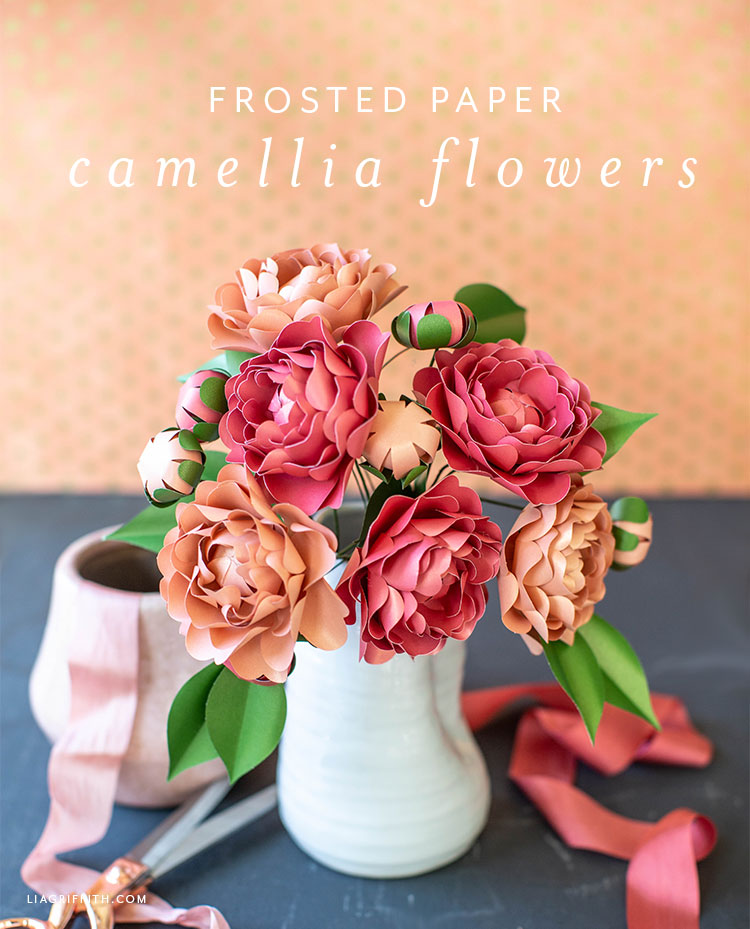 Video Tutorial New Frosted Paper Camellia Flower Kit Lia Griffith