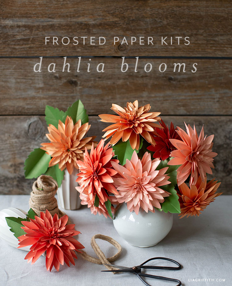 Video Tutorial New Frosted Paper Dahlia Flower Kit Lia Griffith