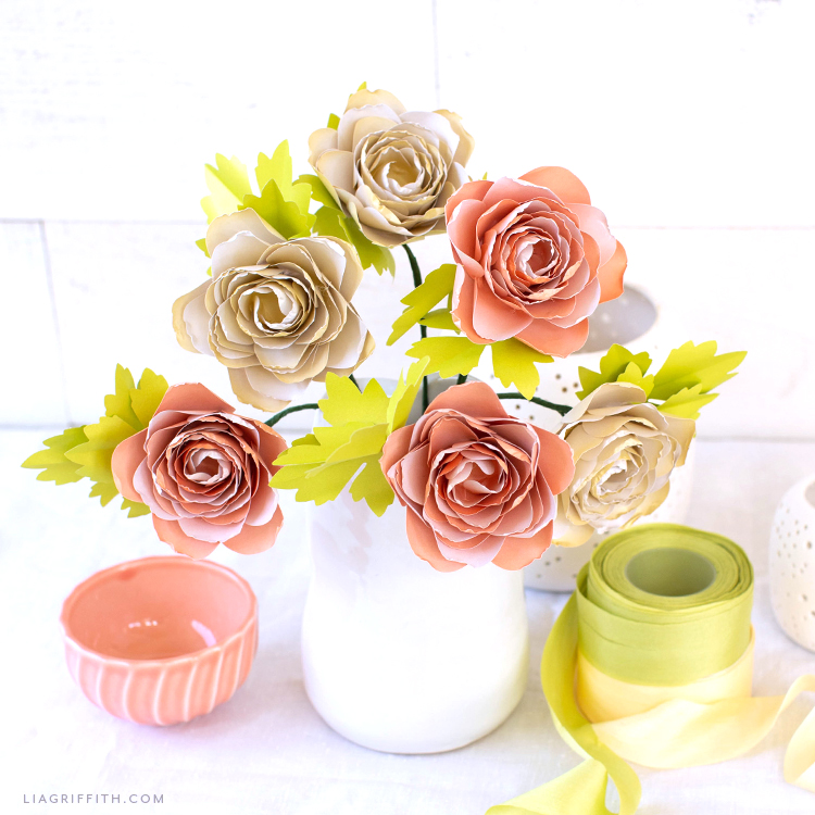 Video Tutorial New Frosted Paper Ranunculus Flower Kit Lia Griffith