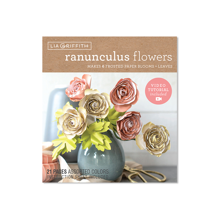 frosted paper ranunculus flower kit