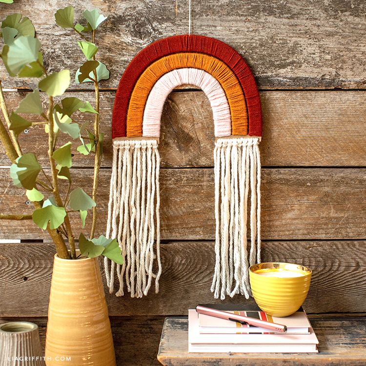 Beautiful Yarn Wrapped Rainbow Wall Hanging Lia Griffith