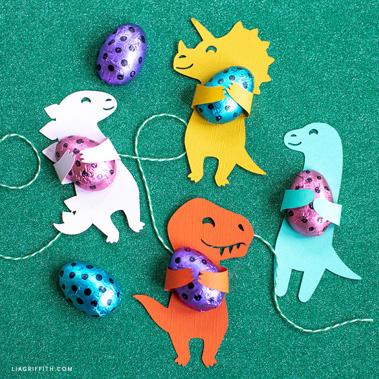 dinosaur candy huggers with chocolates