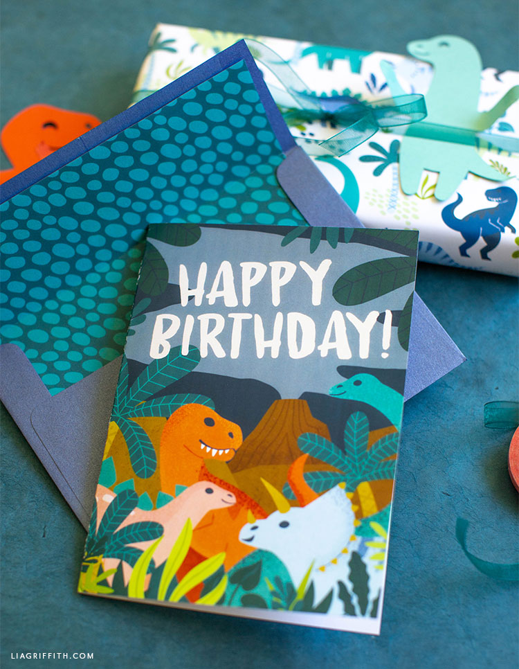 dinosaur happy birthday card