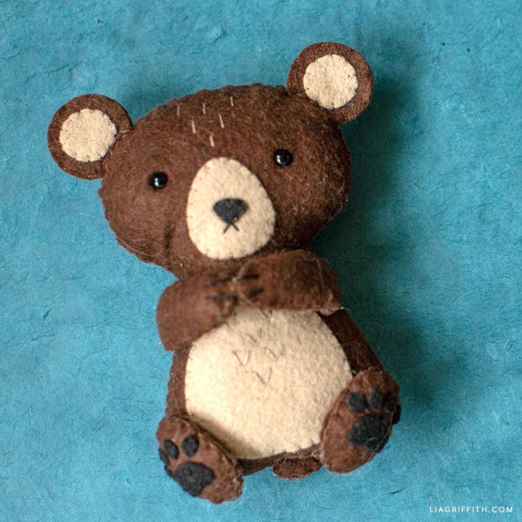 felt brown bear stuffie