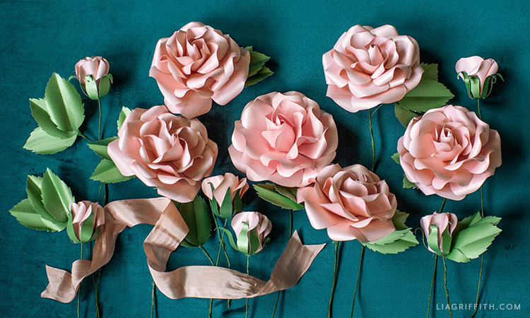 frosted paper garden roses flower kit
