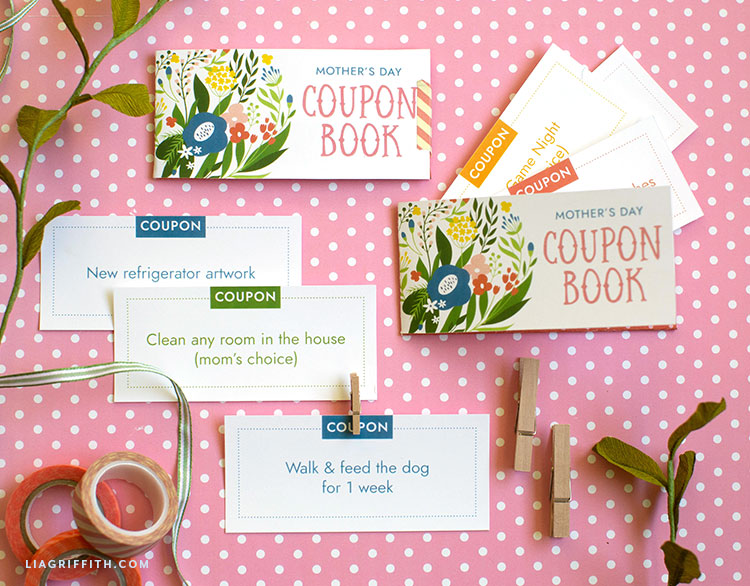printable coupon book for Mother's Day