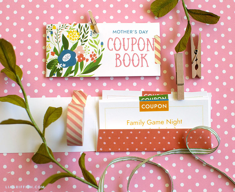 Mother's Day coupon book and printable coupons