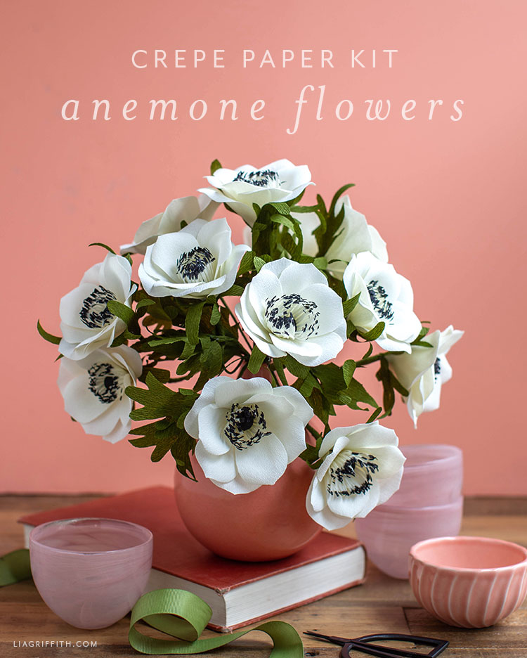 Video Tutorial Crepe Paper Anemone Flower Kit Lia Griffith