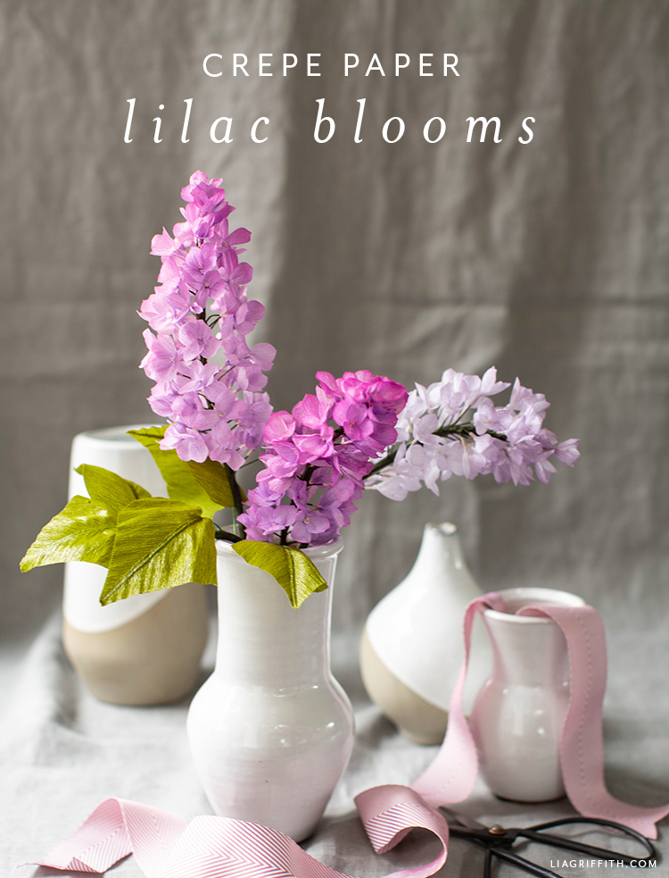 Member Make Live Video Crepe Paper Lilac Flowers Lia Griffith