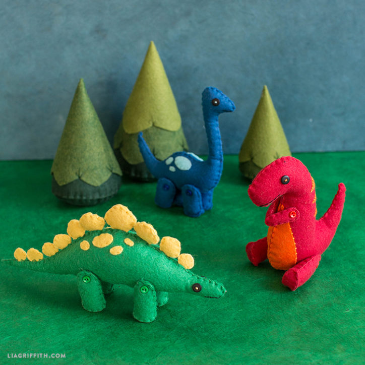 Felt dinosaur gift. Dinosaur Gingerbread Christmas decoration