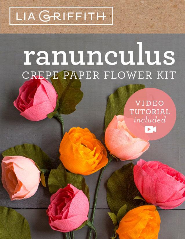 Crepe Paper Flower Kits Lia Griffith