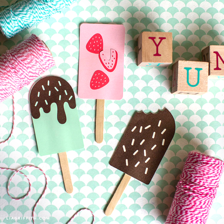 papercut ice cream bars with twine