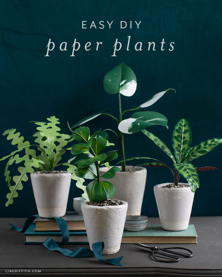 easy DIY paper plants