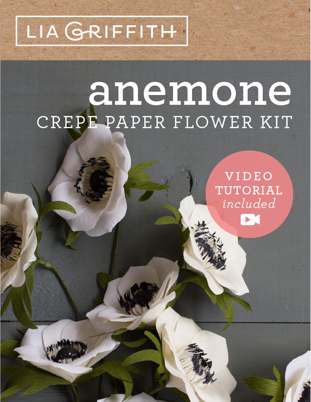 lia griffith crepe paper anemone flower kit