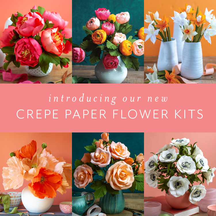 Introducing Our New Crepe Paper Flower Kits Lia Griffith