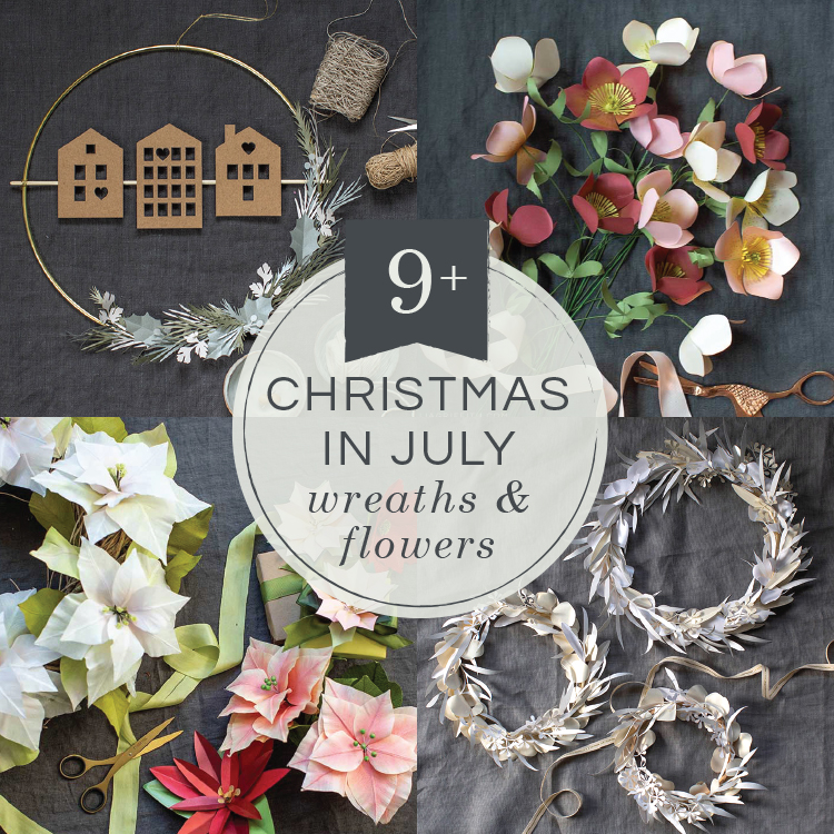 107d6b0e89938 Christmas in July: My Favorite Christmas Flowers & Wreaths - Lia ...