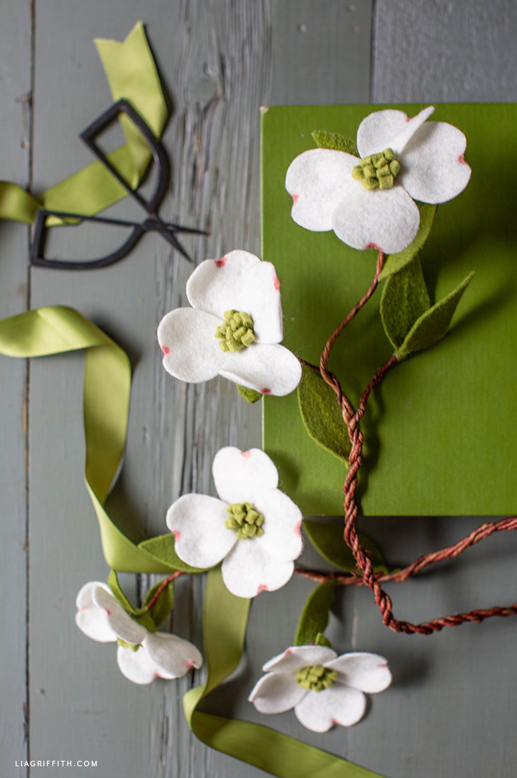pretty felt dogwood branches
