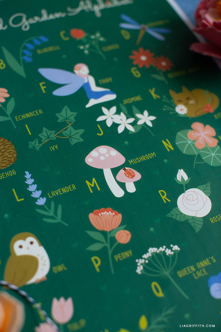 magical garden alphabet poster
