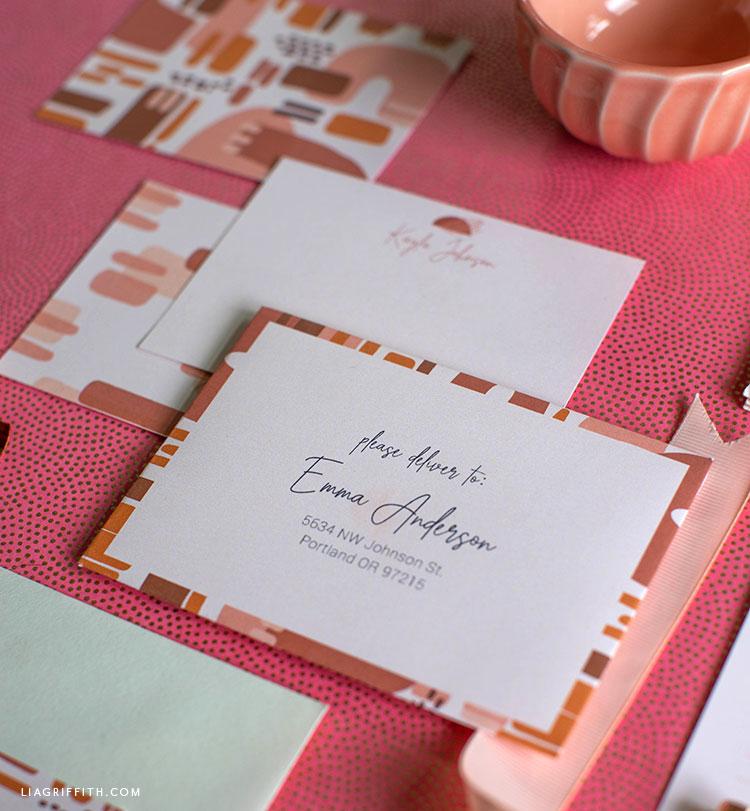 printable stationery set