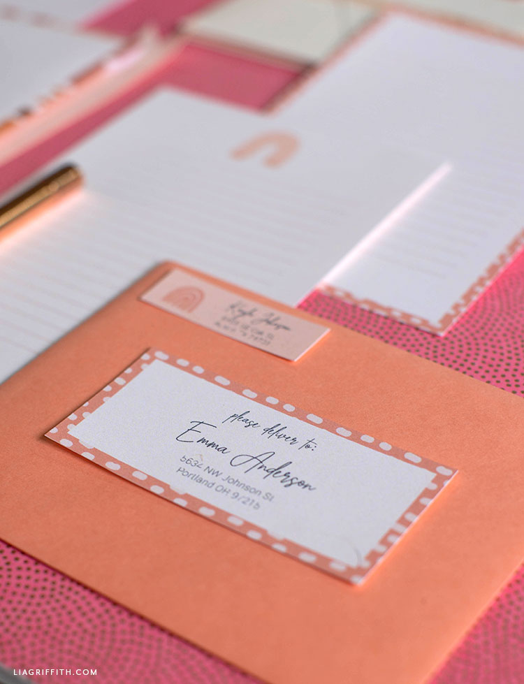 printable address labels and stationery