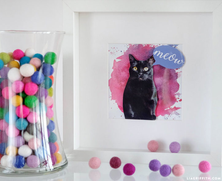 DIY cat portrait made with Canon
