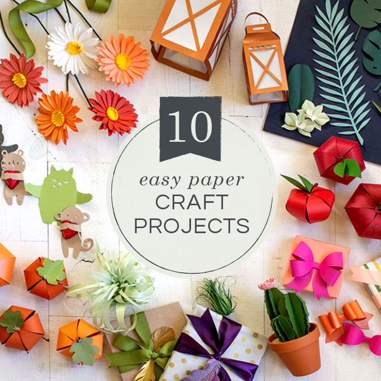Video Tutorial 10 Easy Paper Craft Projects