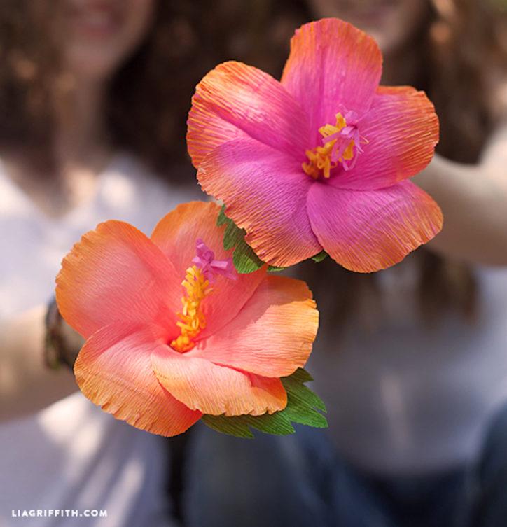 crepe paper hibiscus