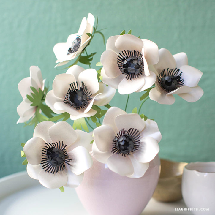 frosted paper anemones