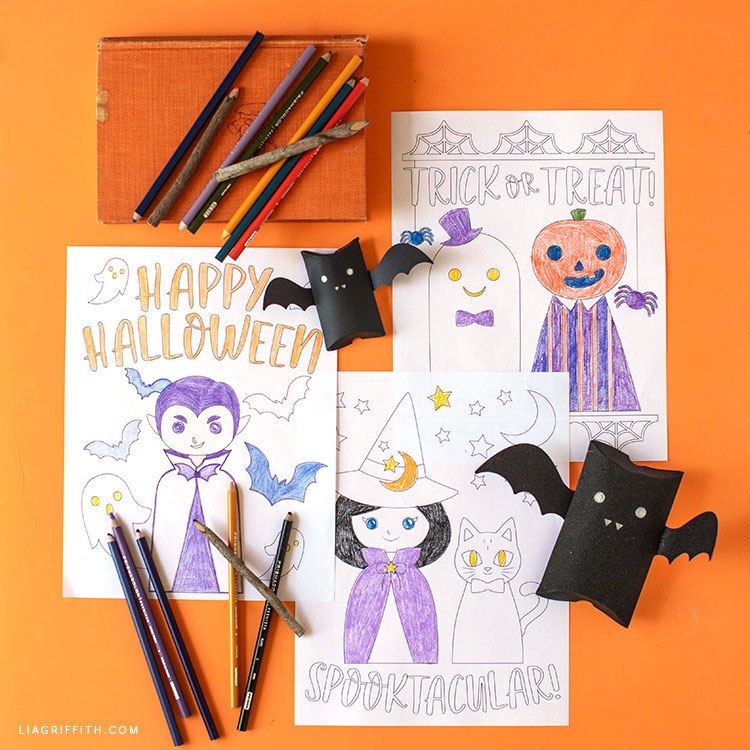 picture about Halloween Stationery Printable identified as Printable Halloween Coloring Web pages for Little ones - Lia Griffith